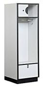 61cm . Open Access Designer Locker in Grey