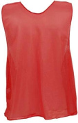 Adult Red Micro Mesh Team Vest - Set Of 12