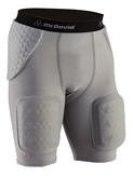 McDavid 7555 HexPad Football Girdle With Hardshell Thigh Guards Black Small