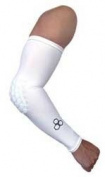 McDavid HexPad Power Shooter Arm Sleeve, White, Medium