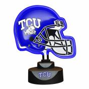 NCAA Texas Christian University Neon Helmet