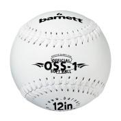 OSS-1 barnett practise softball ball, size 12, white 1 dozen