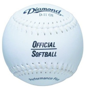 Diamond 27.9cm Synthetic Cover Softball, Cork Core, Dozen