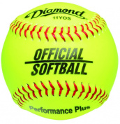 Diamond Dozen-Count 27.9cm Synthetic Optic Cover Softball, Cork Core