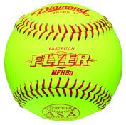 Diamond 30.5cm Leather Cover Fastpitch Softball, Cork Core, ASA Stamped, Dozen