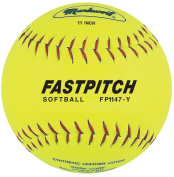 Markwort Fastpitch 27.9cm Softball Yellow Genuine Leather (Dozen) Yellow