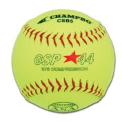 SChampro Game ASA Slow Pitch Softball, Poly Synthetic Cover, Red Stiches