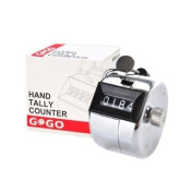 GOGO Hand Tally Counter, Solid Metal Palm Counters, Handheld Tally Clicker - Chrome Plated