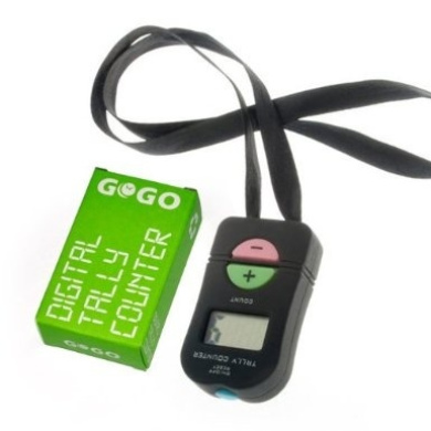 GOGO Digital Tally Counter, Count Up (+) & Down (-), Sports Electronic Counter Clickers
