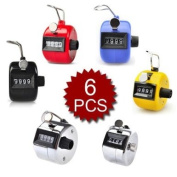 (Price/6 pcs)GOGO Assorted Hand Tally Counter, Tally Counter Clicker
