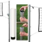 Outdoor Volleyball Set with Steel Top Cable Net