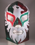 MEXICANO Adult Lucha Libre Wrestling Mask (pro-fit) Costume Wear - Red/Green
