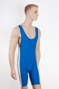 Wrestling/Grappling Suit Lycra Blue/White Size LARGE