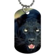 Black Panther Dog Tag with 76.2cm chain necklace Great Gift Idea