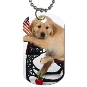 Cute School puppy Dog Tag with 76.2cm chain necklace Great Gift Idea