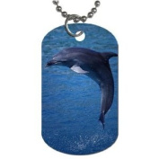 Dolphin Dog Tag with 76.2cm chain necklace Great Gift Idea