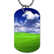 Green grass blue skies Dog Tag with 76.2cm chain necklace Great Gift Idea