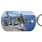 Helicopter hh60 pave hawk Dog Tag with 76.2cm chain necklace Great Gift Idea