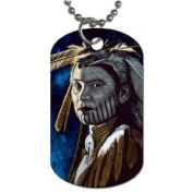 Indian Native American Dog Tag with 76.2cm chain necklace Great Gift Idea