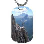 Mountain climbing Dog Tag with 76.2cm chain necklace Great Gift Idea