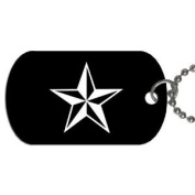 Nautical star Dog Tag with 76.2cm chain necklace Great Gift Idea