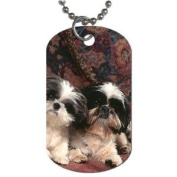 Puppies shih tzu Dog Tag with 76.2cm chain necklace Great Gift Idea