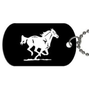 Running horse mustang Dog Tag with 76.2cm chain necklace Great Gift Idea