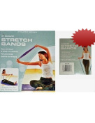 Multi-Resistant Exercise Stretch Bands, 3 count