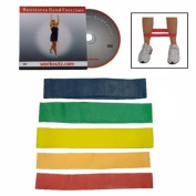 Workoutz 5-piece Butt Lift Ankle Resistance Band Set with. DVD