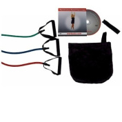 Workoutz 3-Piece Resistance Band Set (Light, Medium, Heavy) with Exercise DVD