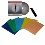 Workoutz 5-piece Flat Resistance Band Set with DVD & Door Anchor