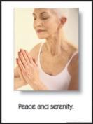 Peace & Serenity 45.7cm X 61cm Laminated Yoga Inspirational Poster