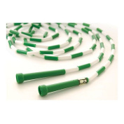 US Games 4.9m Green with White Segmented Skip Rope