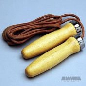 Hardwood Handle Jumprope - Leather Cord