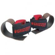 Grizzly Fitness Deluxe Leather Weight Lifting Wrist Straps