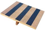 Balance Rocker Board, 35.6cm X 38.1cm Wood with Traction Strips