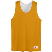 Youth Tricot Mesh Reversible Tank - GOLD WHITE - SMALL