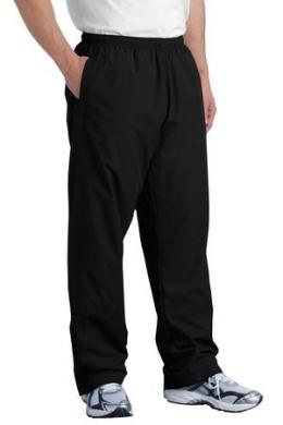 Sport Tek Men's Big Wind Pant, Black, Medium