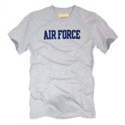 Rapid Dominance Genuine Felt Applique Military T-Shirts US Air Force Heather Grey - Heather Grey - X-Large -