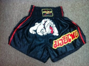 Muay Thai Shorts Embroidered Dog Size XL