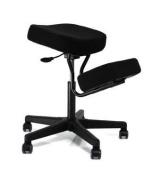 F1445-BK Solace Plus Ergonomic Height Adjustment Kneeling Chair Seating - Black