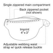 Yens Fantasybag 2-Zipper Fanny Pack -Black, FN-611