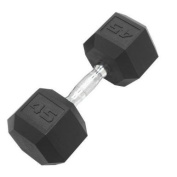 Cap Barbell Workouts Coated Hex Dumbbell, Black, 20kg