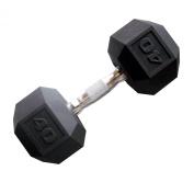 Cap Barbell Workouts Coated Hex Dumbbell, Black, 18kg