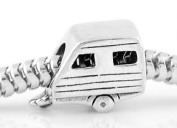 Sterling Silver Rv Camper Detachable Camping Trailer Bead Charm By Simstars