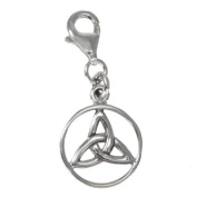 Sterling Silver Celtic Trinity Knot Celtic Knot Clip Charm Wiccan Pendant