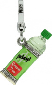 Authentic Juicy Couture 2012 - Bottled Green Tea - Silver Plated Charm