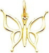 14K Yellow Gold Butterfly Charm Jewellery Pendant