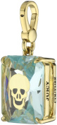 Juicy Couture Long Skull Engraved Emerald Gem Charm