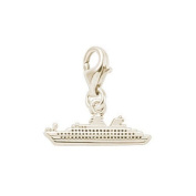 Rembrandt Charms Ocean Liner Charm with Lobster Clasp, 10K Yellow Gold